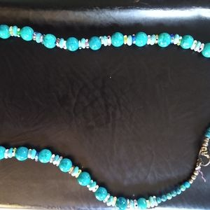 Vintage Turquoise Color Beaded Necklace